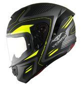 Vemar Hurricane Laser Motorcycle Helmet M Yellow Fluo