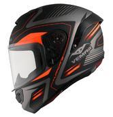 Vemar Hurricane Laser Motorcycle Helmet XL Orange Fluo
