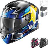 Shark Skwal 2 Oliveira Replica Motorcycle Helmet & Visor