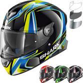 Shark Skwal 2 Sykes Replica Motorcycle Helmet & Visor