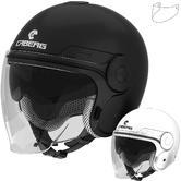 Caberg Uptown Plain Open Face Motorcycle Helmet & Visor