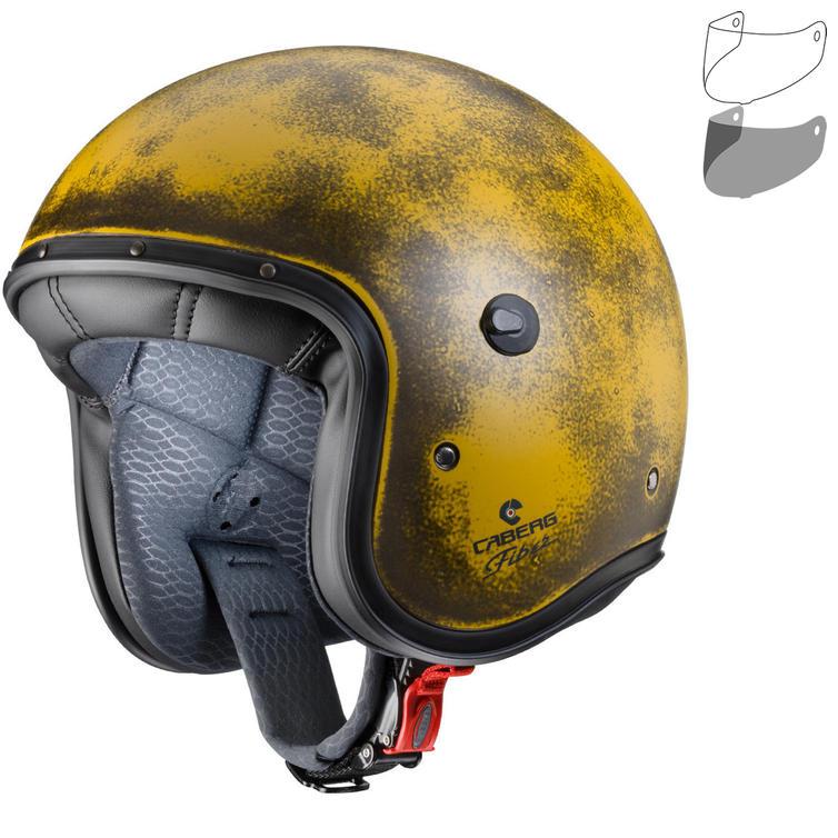 Caberg Freeride Yellow Brushed Open Face Motorcycle Helmet & Visor