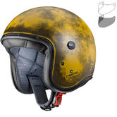 Caberg Freeride Yellow Brushed Open Face Motorcycle Helmet & Visor