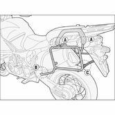 Givi Monokey Pannier Rack Yamaha XT 1200Z / 1200ZE Tenere (10-18) (PL2119)