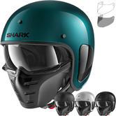 Shark S-Drak Blank Open Face Motorcycle Helmet & Visor