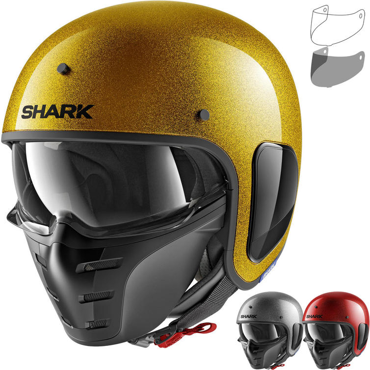 8d0f8fb6 Shark S-Drak Glitter Open Face Motorcycle Helmet & Visor - New Arrivals -  Ghostbikes.com