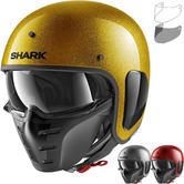 Shark S-Drak Glitter Open Face Motorcycle Helmet & Visor