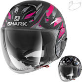 Shark Nano Kanhji Open Face Motorcycle Helmet & Visor