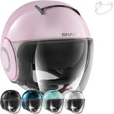 Shark Nano Crystal Swarovski Ladies Open Face Motorcycle Helmet & Visor