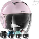 Shark Nano Crystal Swarovski Ladies Open Face Motorcycle Helmet & Visor