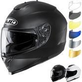 HJC C70 Plain Motorcycle Helmet & Visor