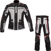 Spada Ascent CE Motorcycle Jacket & Trousers Black Grey Kit