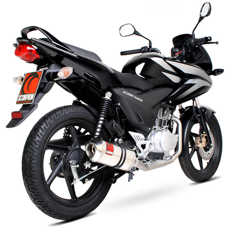 scorpion factory carbon oval exhaust honda cbf 125 full. Black Bedroom Furniture Sets. Home Design Ideas