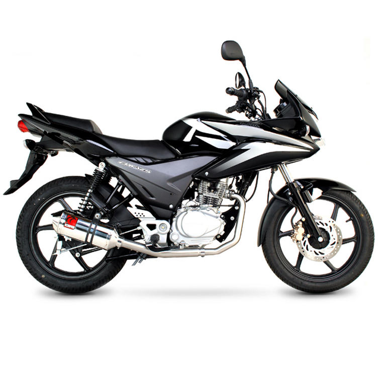 scorpion factory carbon oval exhaust honda cbf 125 full system 08 current motorcycle. Black Bedroom Furniture Sets. Home Design Ideas