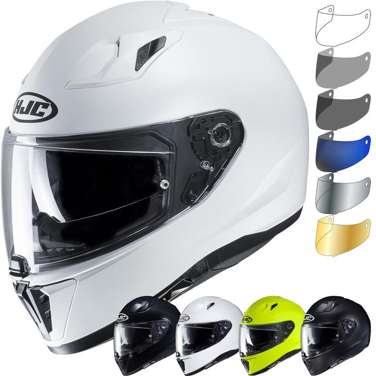 HJC I70 Plain Motorcycle Helmet & Visor