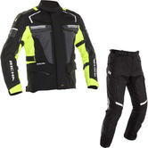 Richa Touareg 2 Motorcycle Jacket & Trousers Black Fluo Black Kit