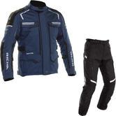 Richa Touareg 2 Motorcycle Jacket & Trousers Navy Black Kit