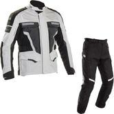 Richa Touareg 2 Motorcycle Jacket & Trousers Grey Black Kit