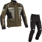 Richa Touareg 2 Motorcycle Jacket & Trousers Green Black Kit