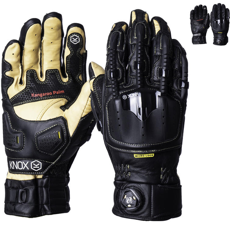 Knox Handroid Pod MK4 Leather Motorcycle Gloves