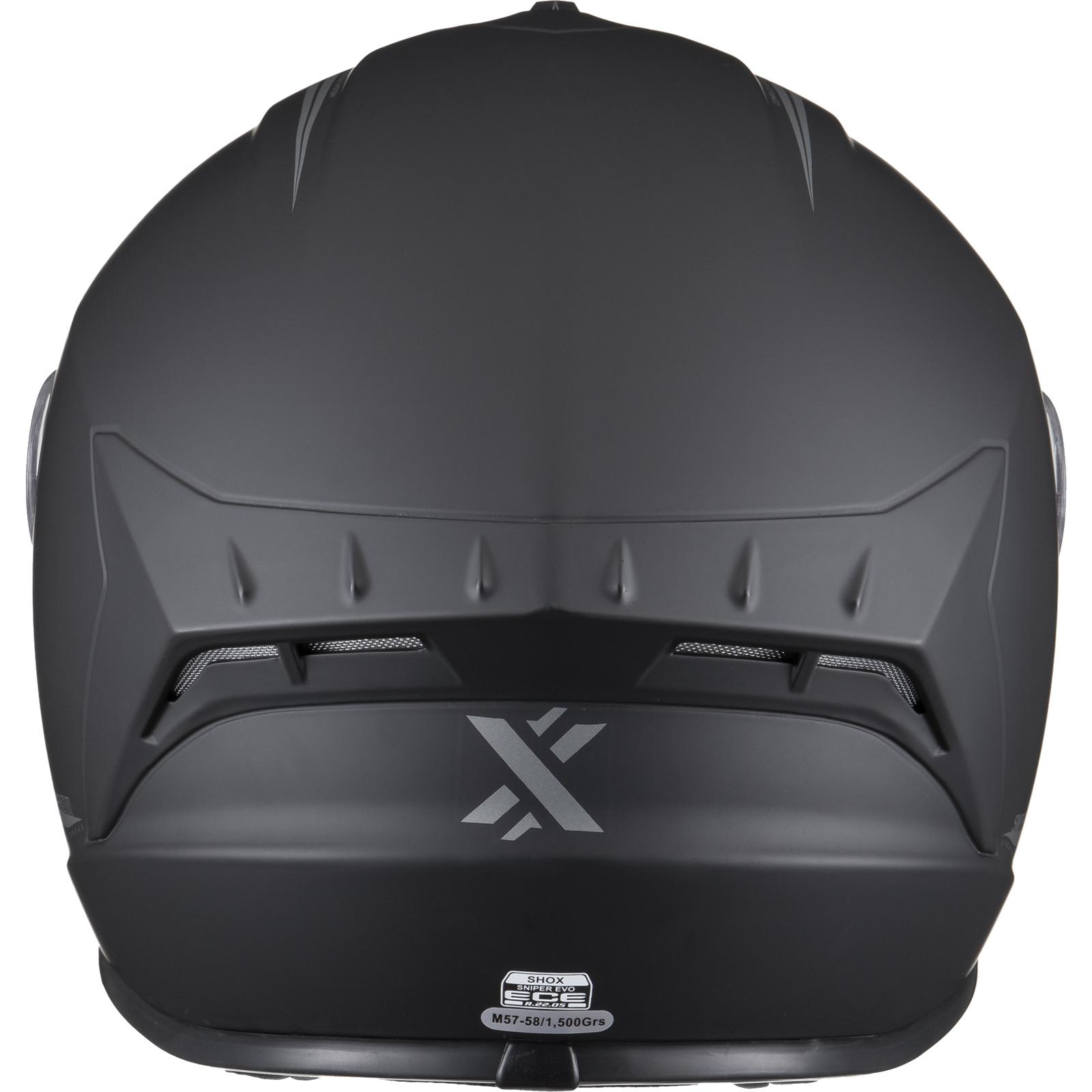 Shox Sniper Evo Solid Motorcycle Helmet