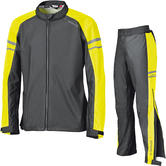 Held Rainstretch Motorcycle Over Jacket & Trousers Black Fluo Yellow Kit