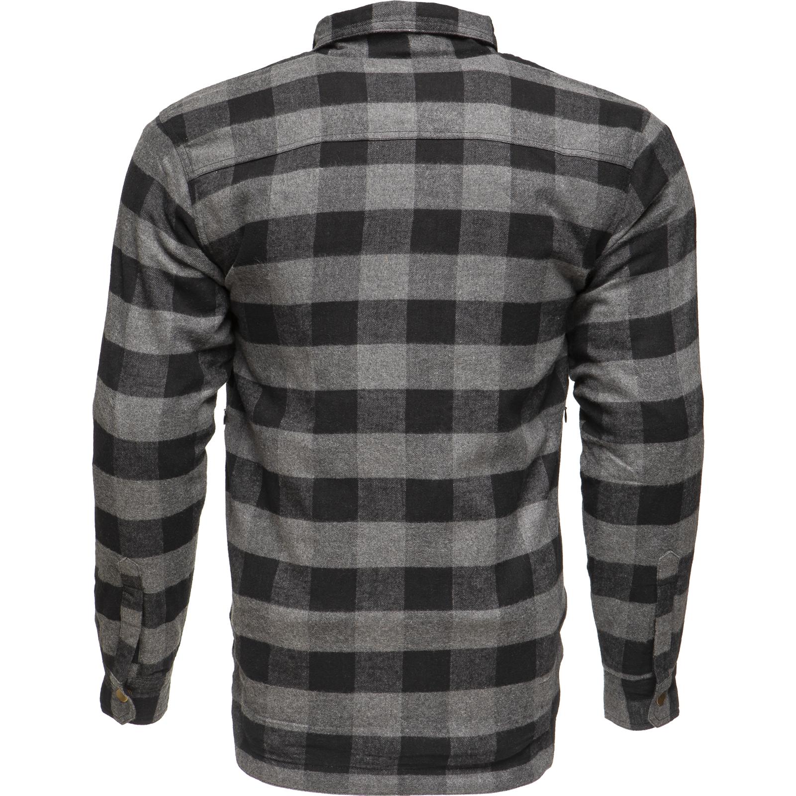 Black Coyote Kevlar Lined Motorcycle Shirt