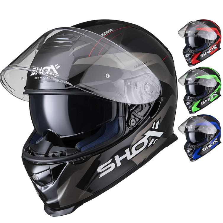 Shox Assault Evo Sector Motorcycle Helmet