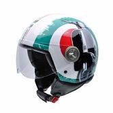 NZI Zeta Graphics Super Fifty-Eight Motorcycle Helmet S White Red Green
