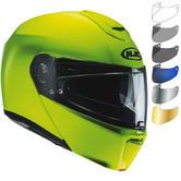 HJC RPHA 90 Fluorescent Flip Front Motorcycle Helmet & Visor