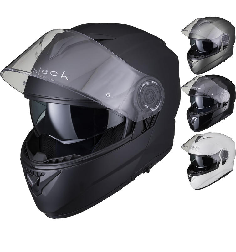 Black Optimus II Flip Front Motorcycle Helmet
