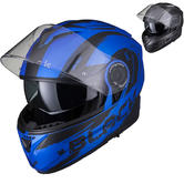 Black Optimus II Destination Flip Front Motorcycle Helmet