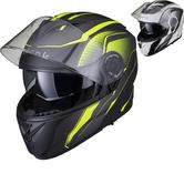 Black Optimus II Infinity Flip Front Motorcycle Helmet