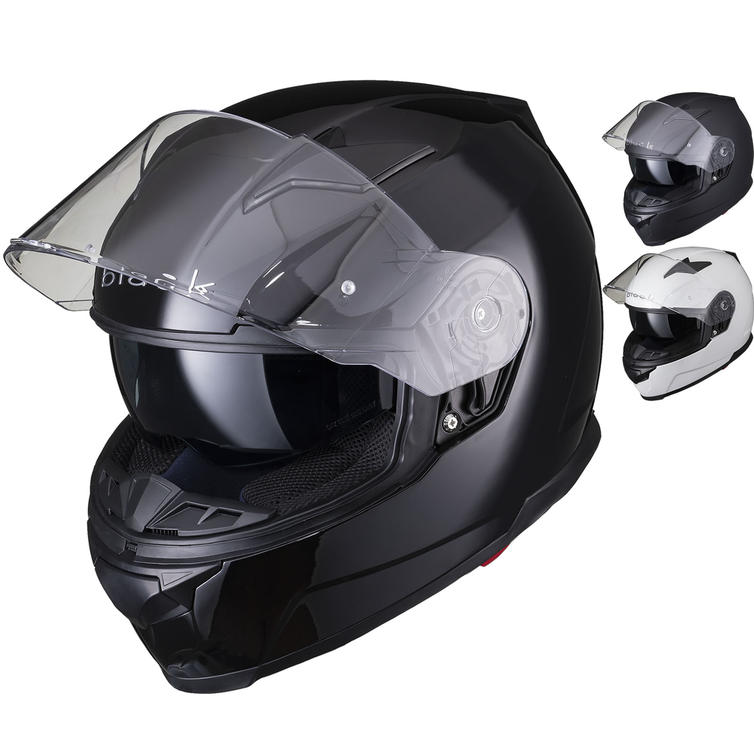 Black Apex Full Face Motorcycle Helmet