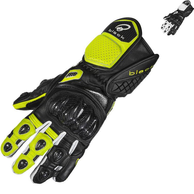 Black Raptor 390 Leather Motorcycle Gloves