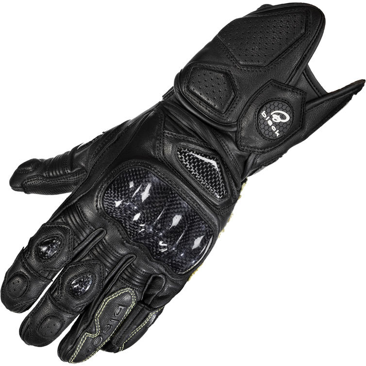 Black Rhino Leather Motorcycle Gloves