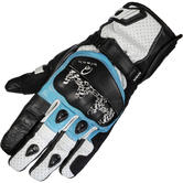 Black Metro Short Leather Motorcycle Gloves
