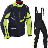 Oxford Montreal 3.0 Motorcycle Jacket & Trousers Black Fluo Kit