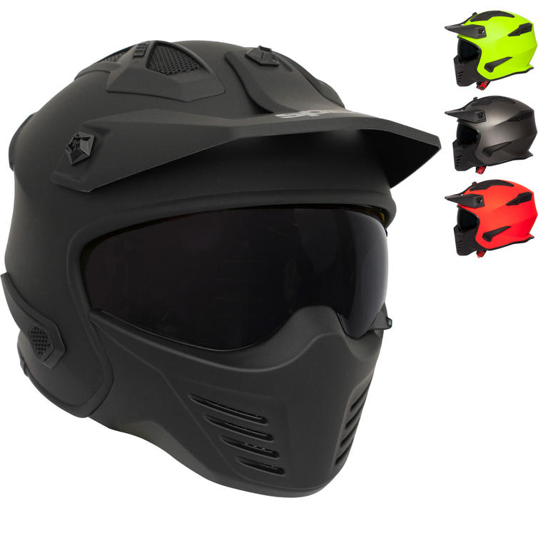Spada Storm Plain Open Face Motorcycle Helmet