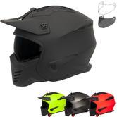 Spada Storm Plain Open Face Motorcycle Helmet & Visor