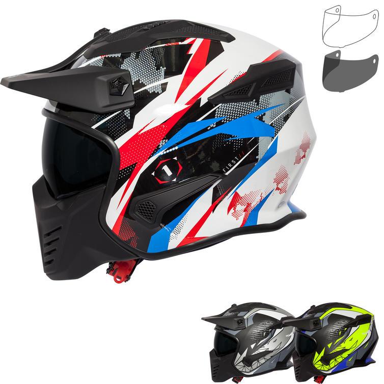 Spada Storm Graphic Open Face Motorcycle Helmet & Visor