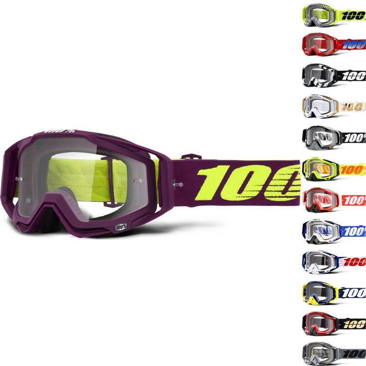 100% Racecraft Clear Motocross Goggles