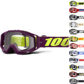 100% Racecraft Clear Motocross Goggles