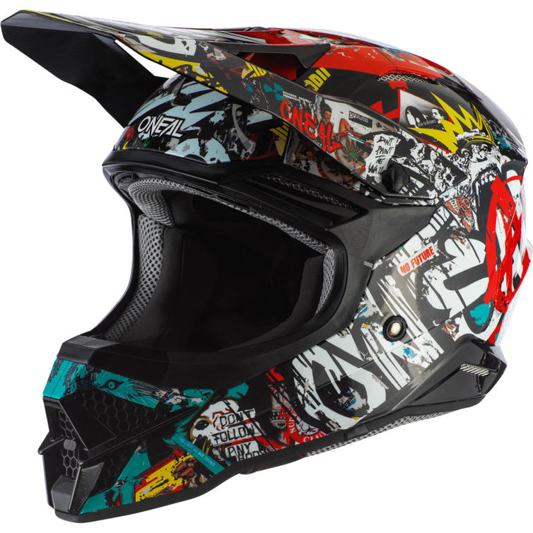 Oneal 3 Series Rancid 2.0 Motocross Helmet