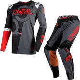 Oneal Prodigy 2020 Five Zero Motocross Jersey & Pants Black Neon Red Kit