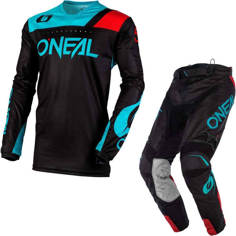 Oneal Hardwear 2020 Reflexx Motocross Jersey & Pants Black Teal Kit