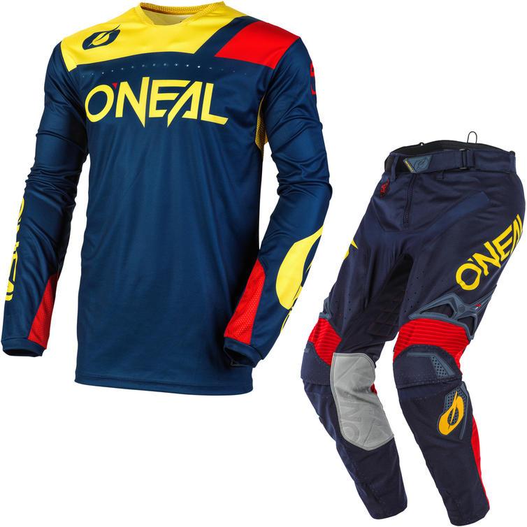 Oneal Hardwear 2020 Reflexx Motocross Jersey & Pants Blue Yellow Kit