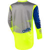 Oneal Element 2020 Factor Motocross Jersey & Pants Grey Blue Neon Yellow Kit Thumbnail 6