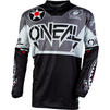 Oneal Element 2020 Warhawk Motocross Jersey & Pants Black Grey Kit Thumbnail 4