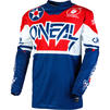 Oneal Element 2020 Warhawk Motocross Jersey & Pants Blue Red Kit Thumbnail 4